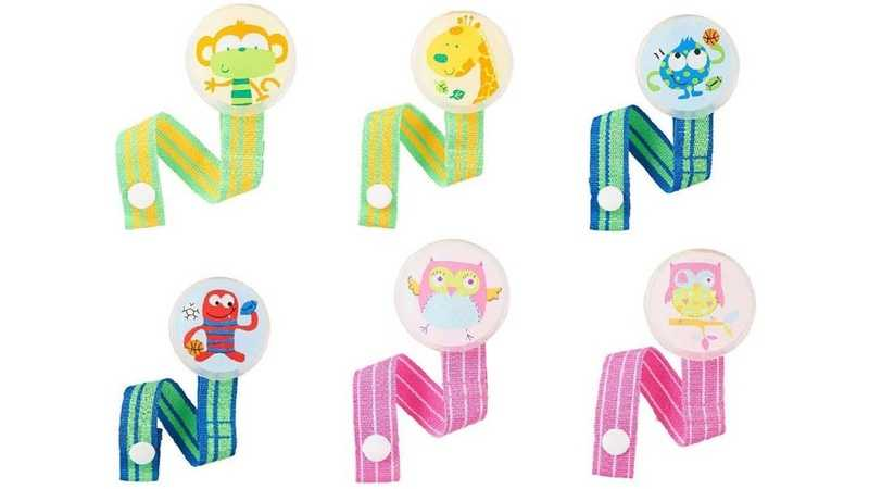 "Babies ""R"" Us pacifier clips"