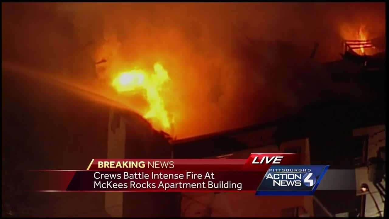 Huge fire tears through apartment building in McKees Rocks