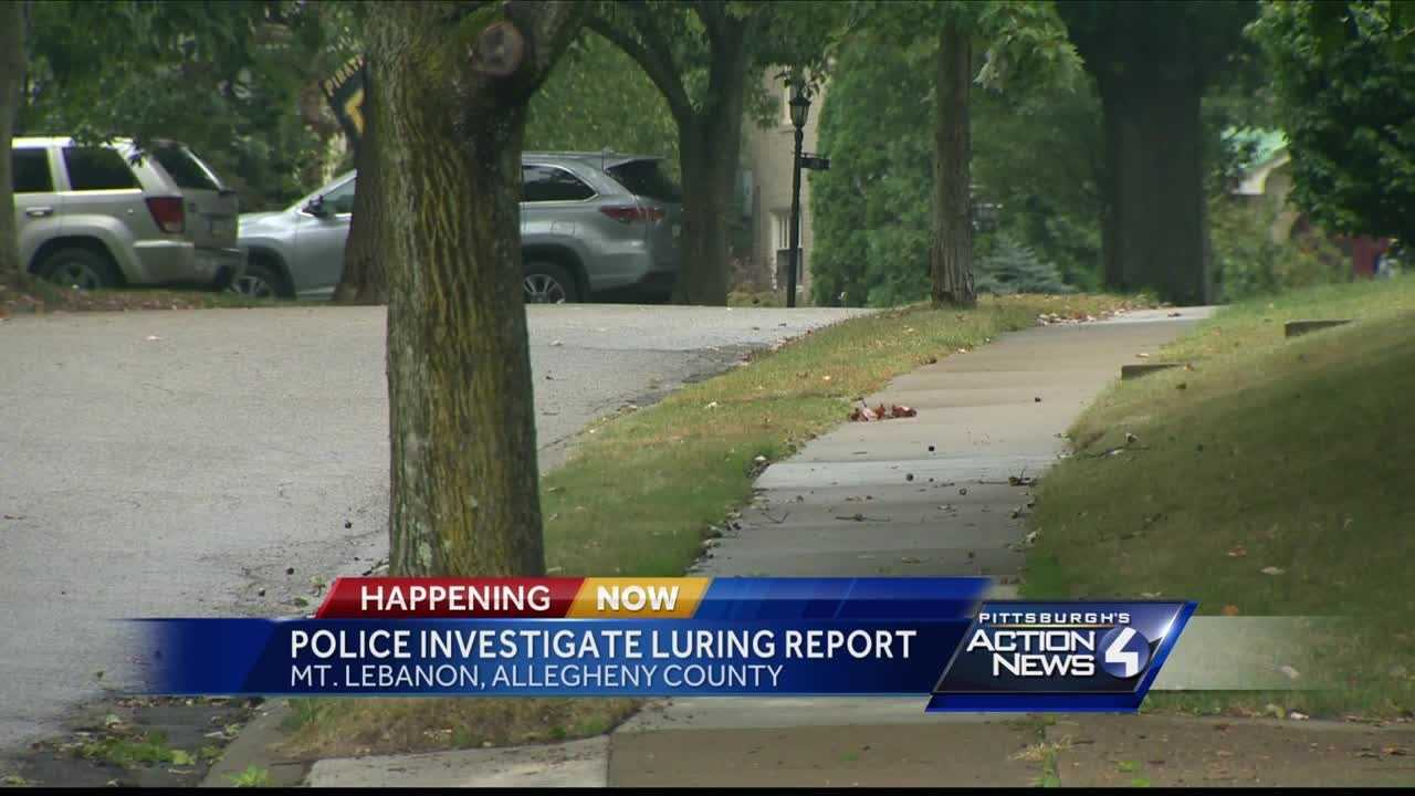 Police in Mount Lebanon are investigating after a possible child luring attempting on Saturday.