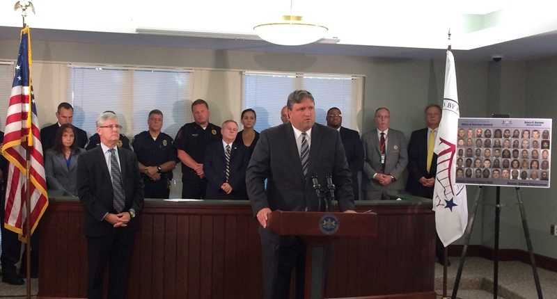 Attorney General Bruce Beemer announced drug-related charges against dozens of people following an undercover investigation in Beaver County, where the mobile street crimes unit was deployed to assist local investigators.