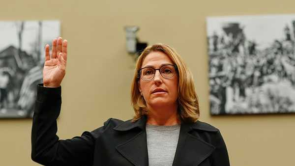 Mylan CEO Heather Bresch is sworn in on Capitol Hill in Washington, Wednesday, Sept. 21, 2016, prior to testifying before the House Oversight Committee hearing on EpiPen price increases.