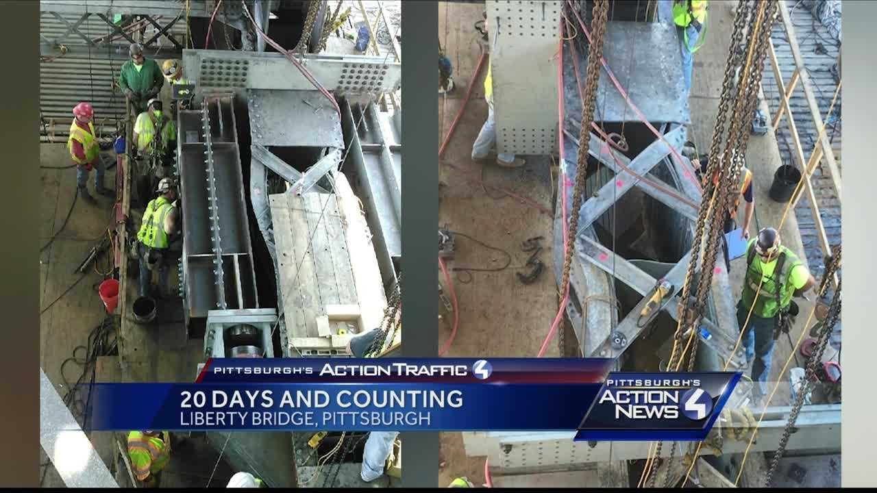 A look at the Liberty Bridge repairs from the Gateway Clipper