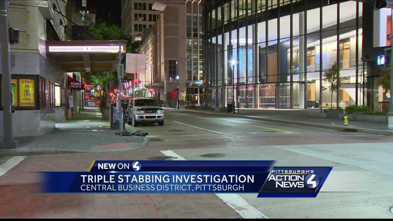 Three people stabbed during fight in Downtown Pittsburgh