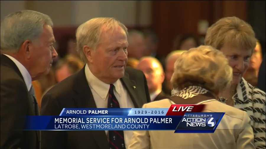Jack Nicklaus was one of many who attended the Arnold Palmer memorial service at Saint Vincent College.