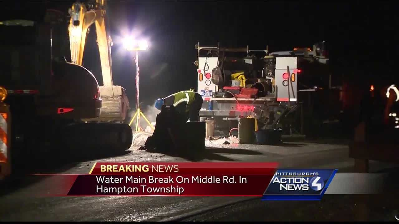img-Water main break in Hampton Township