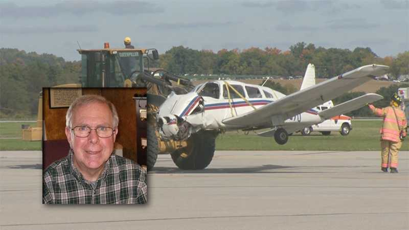 Doug Splitstone was injured when his plane crashed at Arnold Palmer Regional Airport.