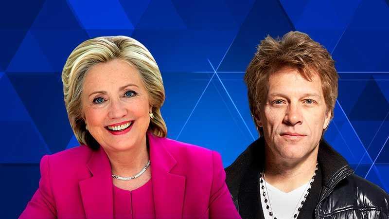 Hillary Clinton, Jon Bon Jovi image