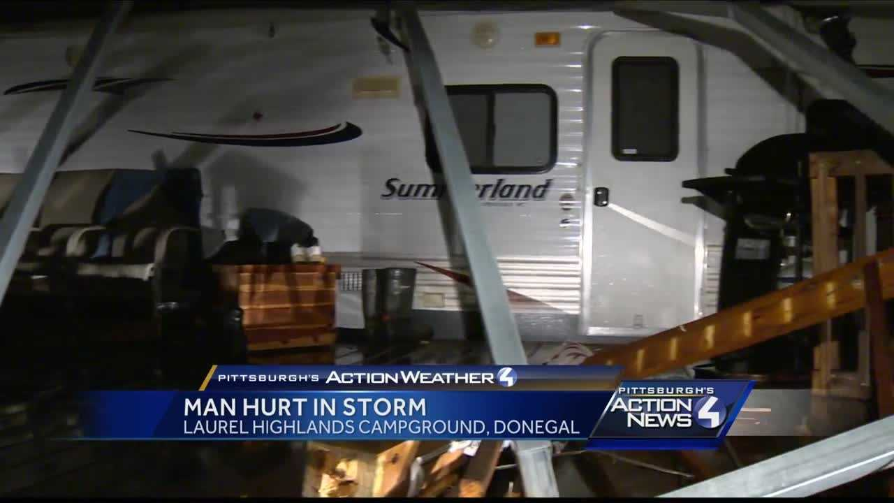 Strong storms damage mobile home im Donegal