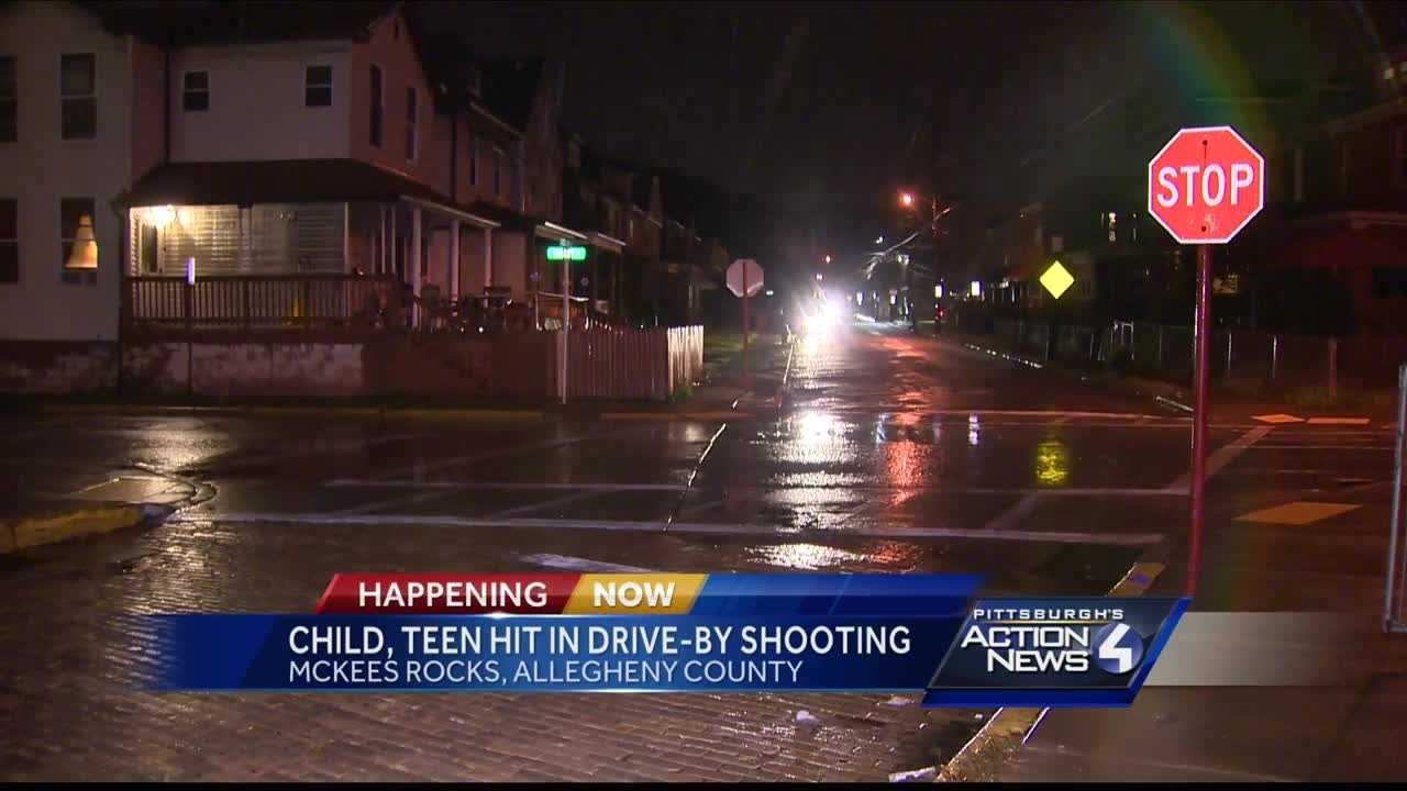 img-Child teen hit in drive-by shooting