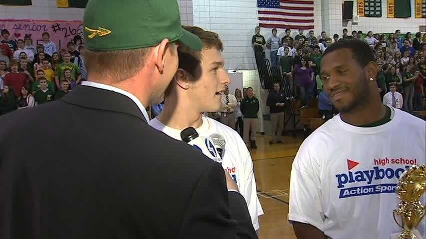 John Meyer talks with Penn-Trafford's Zach Emerick and Manny Simpson