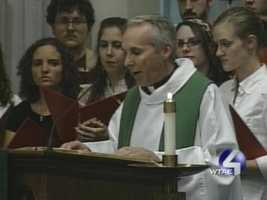 About 300 students gathered to pray for their injured classmates at a Mass in the university chapel.