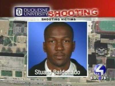 A bullet pierced Stuard Baldonado's back and severed an elbow artery, causing him to miss the entire basketball season.