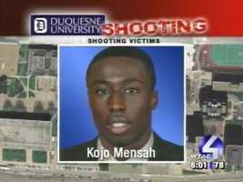 Kojo Mensah suffered arm and shoulder wounds.