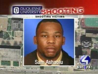 Sam Ashaolu was the most seriously wounded, with bullet fragments in his head, and came close to death.