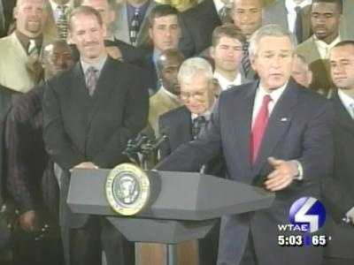 Cowher and the entire Super Bowl team met President George W. Bush at the White House.