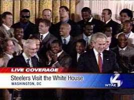 June 2, 2006: The champs pay the traditional visit to the White House, and Bush calls Porter out. (See him? Top left, with the shades on.)Read Story