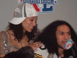 Troy Polamalu and wife Theodora