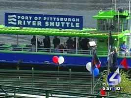 The River Shuttle arrives.