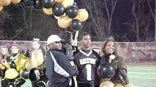 Justin King on Senior Night at Gateway High School.