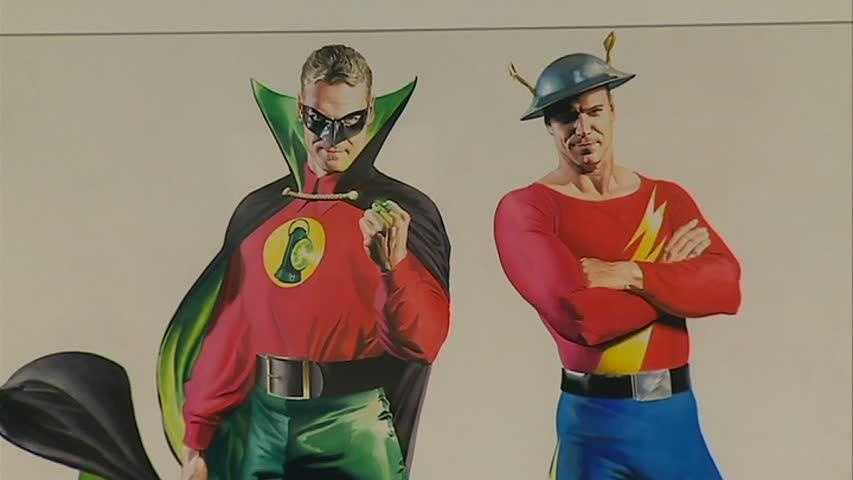 Golden Age versions of Green Lantern and the Flash
