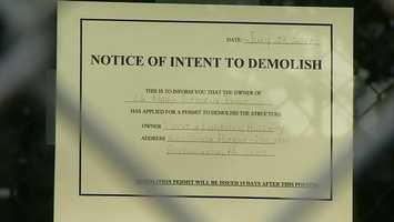 Civic Arena demolition notice