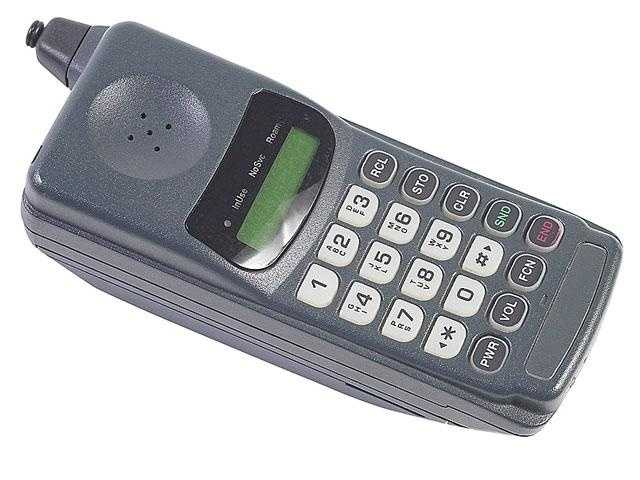 This is what mobile phones looked like -- with no touch screens, texting, tweeting or Facebooking.