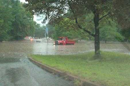 WTAE Facebook fan Melissa Corcino Petersen shared this photo of flooding on Washington Boulevard in Highland Park.