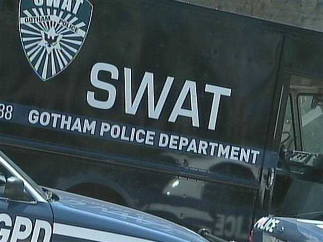 A SWAT vehicle for the City of Gotham Police Department