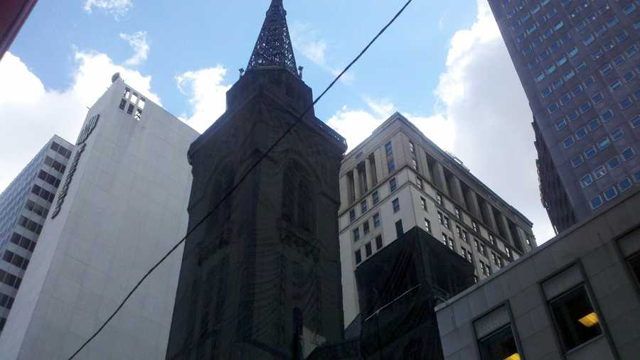 "The downtown skyline with the church steeple looked very ""Gotham-ish,"" didn't it?"