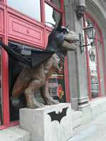 u local member barrybal_66 shared this photo of a dinosaur statue dressed as Batman on the Boulevard of the Allies downtown.