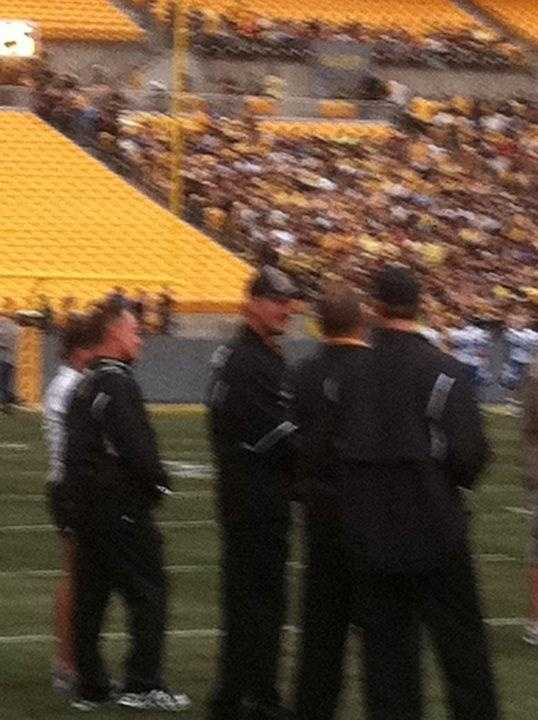 """Bill Cowher as a Gotham Rogues football coach in """"The Dark Knight Rises."""""""