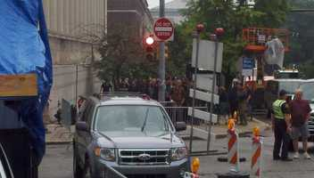 "Fifth Avenue in Oakland was shut down for filming of ""The Dark Knight Rises."""