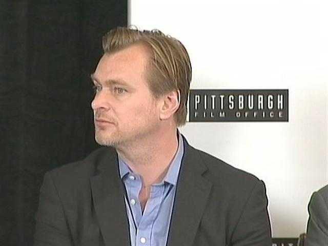 "Christopher Nolan, director of ""The Dark Knight Rises,"" at a news conference for the movie at the Renaissance Hotel in Pittsburgh."