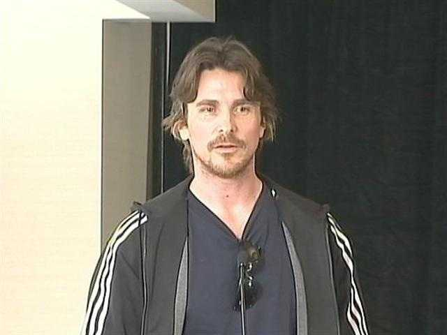 "At a news conference, ""Bruce Wayne"" Christian Bale said he had never been to Pittsburgh before and was looking forward to filming in the city."