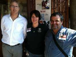 From left to right, Tiko McKnight, a Seattle native now in Botswana. Karen Vacco , asst. Curator of the Pittsburgh Zoo. Greg Rasmussen, of Zimbabwe, founder of Painted Dog Conservation.