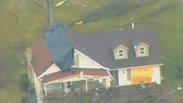 March 2011: Tornado damage in Hempfield Township, Westmoreland County.