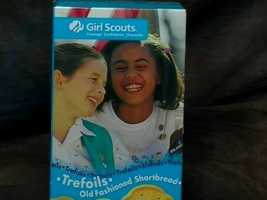 Trefoils (also known as shortbread) are shaped like the Girl Scouts logo.