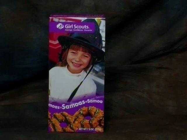 Samoas are about 70 calories each.