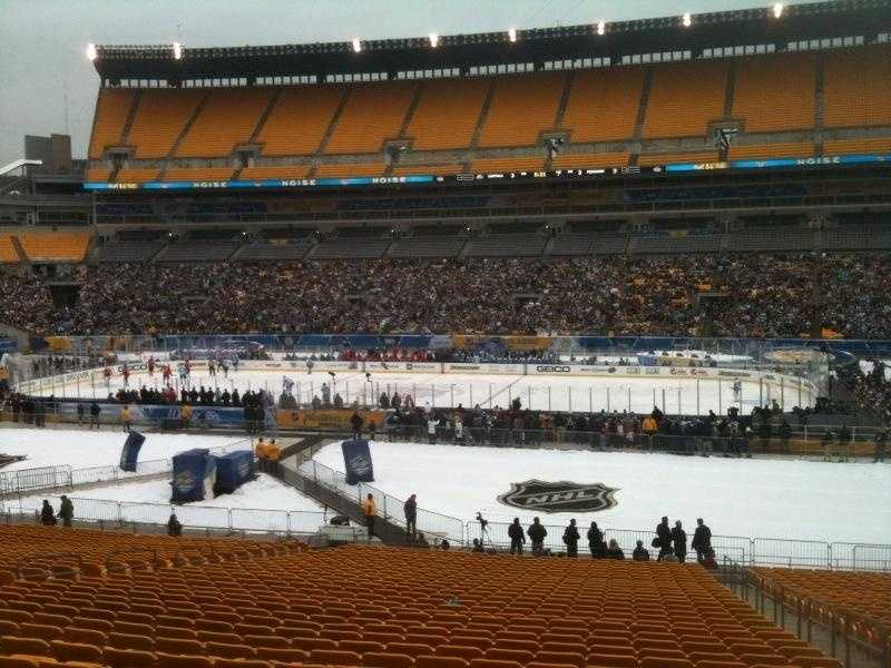 Heinz Field during the Winter Classic alumni game.