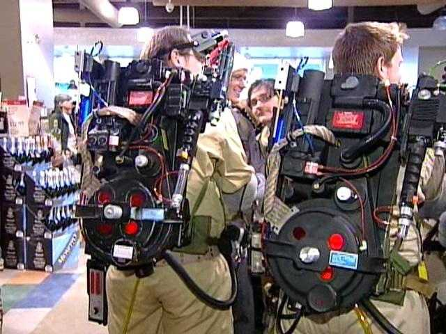 Ghostbusters fans show off their proton packs