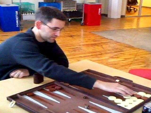 Backgammon and other board games are available for employees.