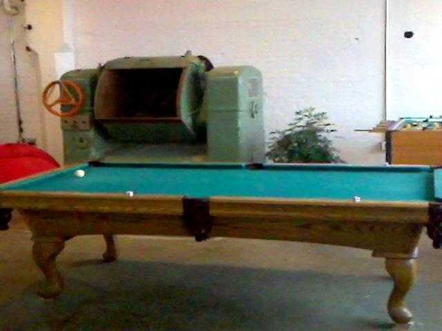 It's the former site of a Nabisco plant. An old piece from that plant sits next to the employees' pool table.
