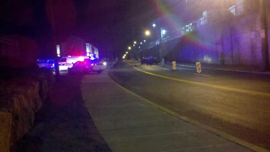 Fatal car crash on East Carson Street on the South Side (From: Ashlie Hardway)