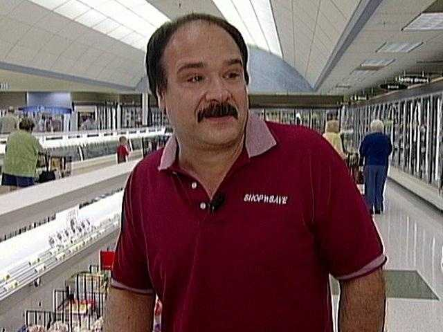 David Pitcock works at Shop 'n Save in Canonsburg. He found Dhanse's ring at the grocery store and turned it in.