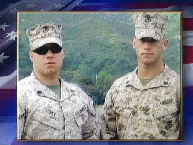Marine Sgt. Joseph Caskey (right)