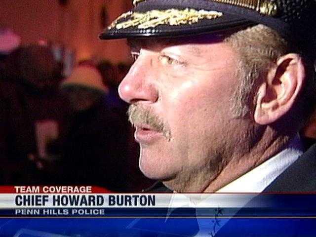 Penn Hills Police Chief Howard Burton talks to Channel 4 Action News reporter Tara Edwards about slain Officer Michael Crawshaw