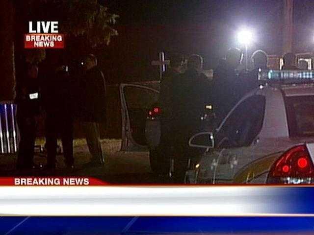 Penn Hills police shooting scene on Johnston Road