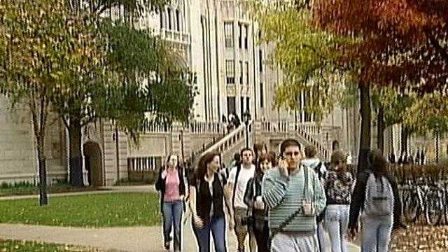 Students walking on the University of Pittsburgh campus in Oakland
