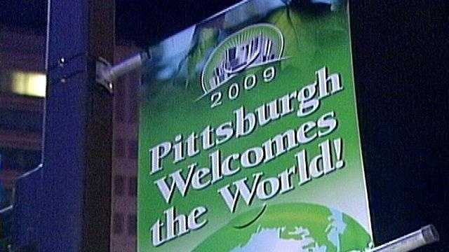 The Group of 20 economic summit was held in Pittsburgh in 2009.