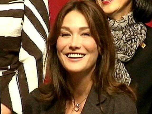 Carla Bruni-Sarkozy, wife of French president Nicolas Sarkozy.